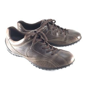 ECCO Fresh Brown Leather Walking Shoes